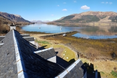 The view of the Old Pier and Loch Leven