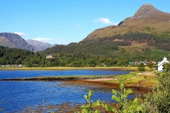 Pier House and The Pap of Glencoe from the Boat Club