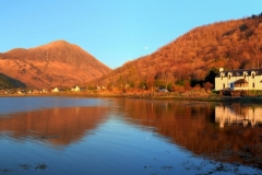 Panoramic : Pier House and The Pap of Glencoe