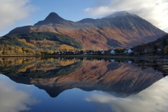 The Pap of Glencoe reflected in Loch Leven