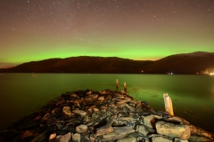 Aurora. The Northern lights from the Old Pier.