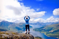 One of our guests on the summit of The Pap of Glencoe