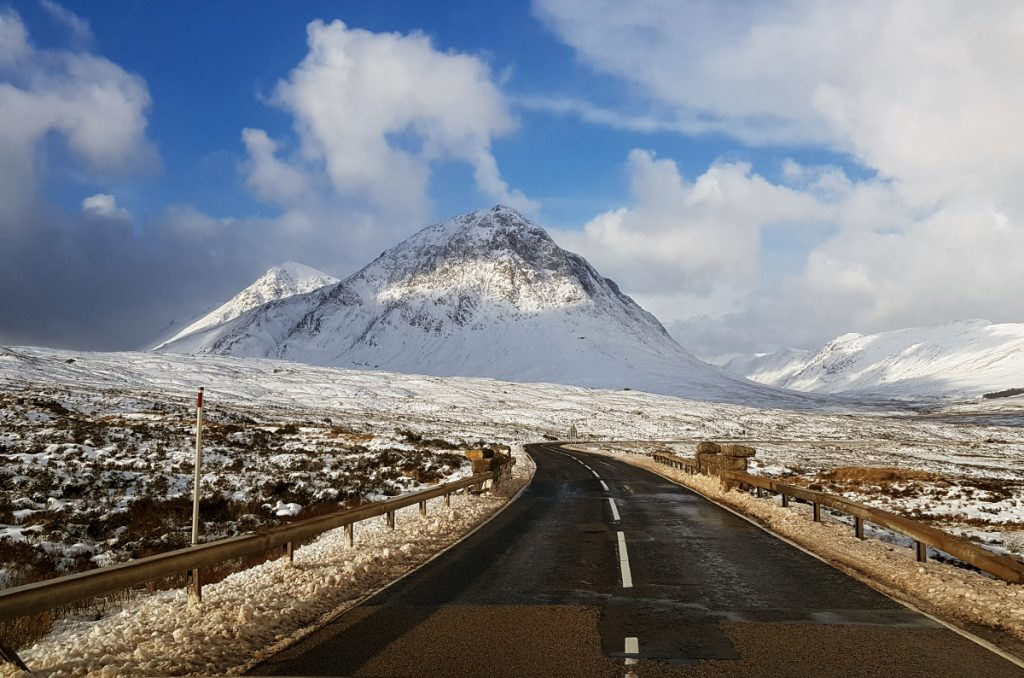 Our road home.... The A82 across Rannoch Moor and Buachaille Etive Mòr