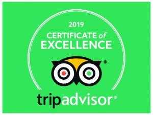 Pier House Glencoe TripAdvisor Certificate of Excellence 2019