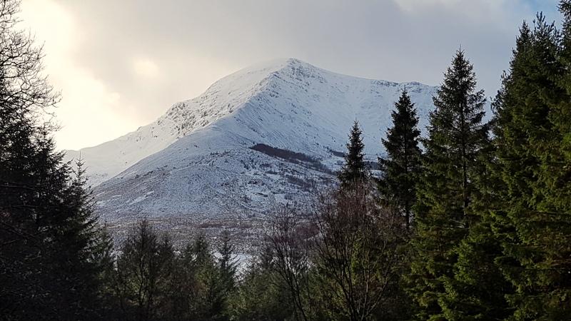 Sgorr Dhearg 1024m (Beinn a'Bheithir) from Brecklet, Ballachulish.
